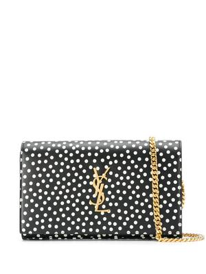 Polka Dot Shoulder Bag With Chain Strap