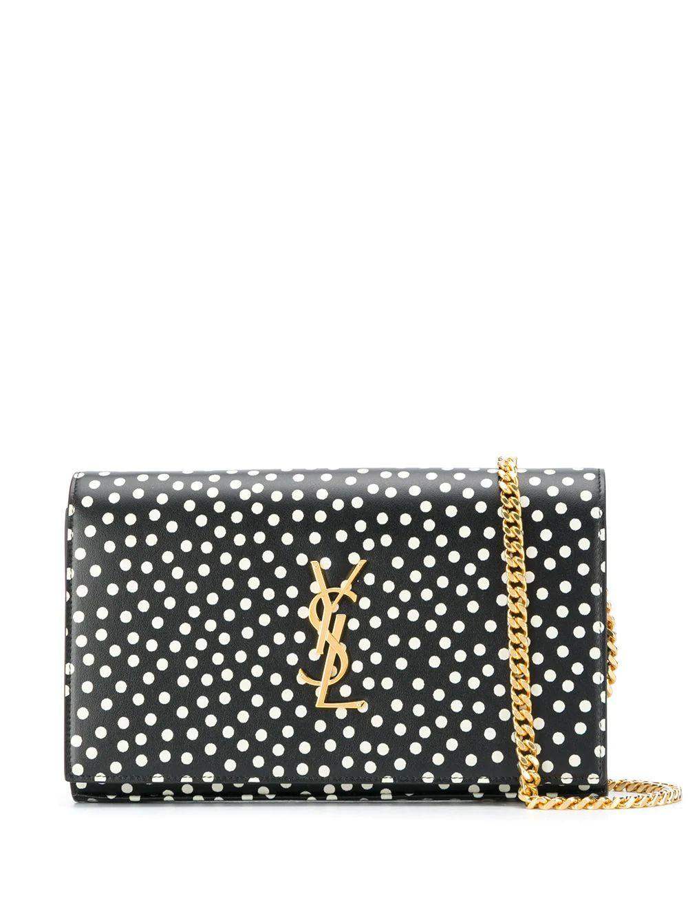 Kate Polka Dot Shoulder Bag With Chain Strap