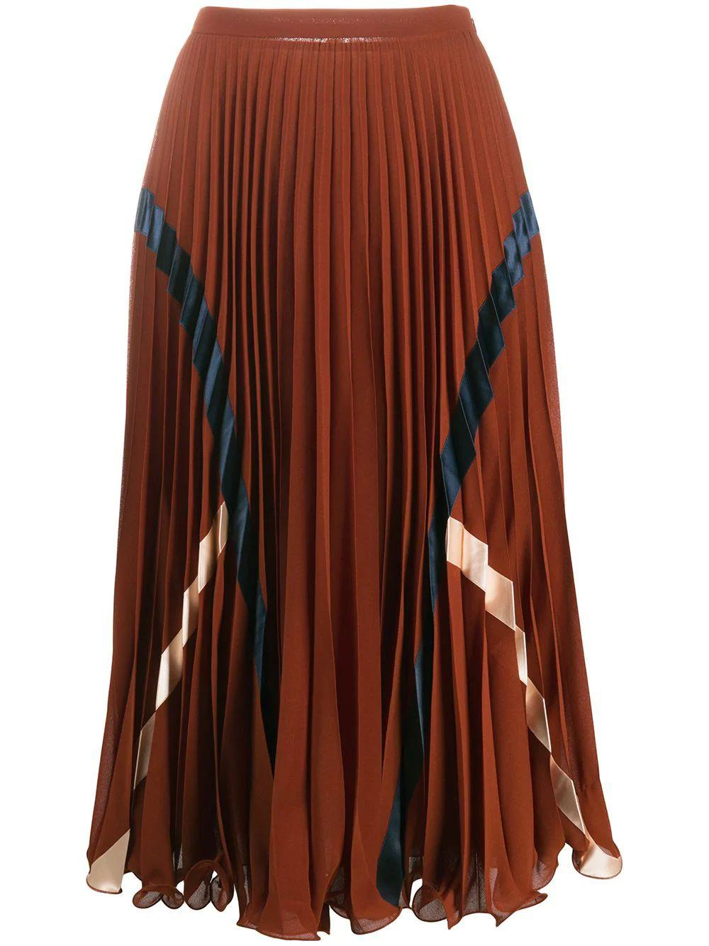 Pleated Midi Skirt Item # CHS20AJU02013