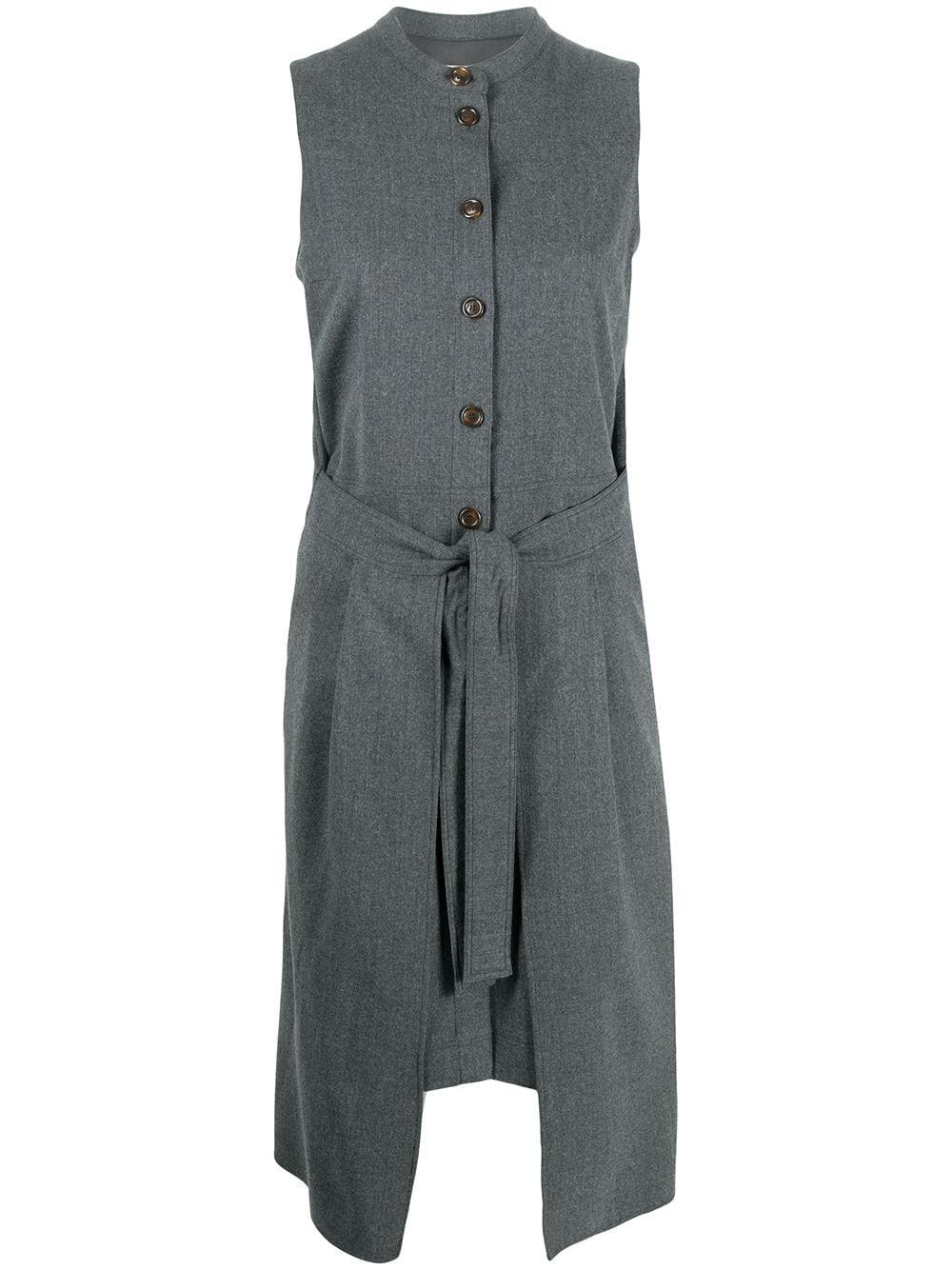 Tie Waist Button Front Dress