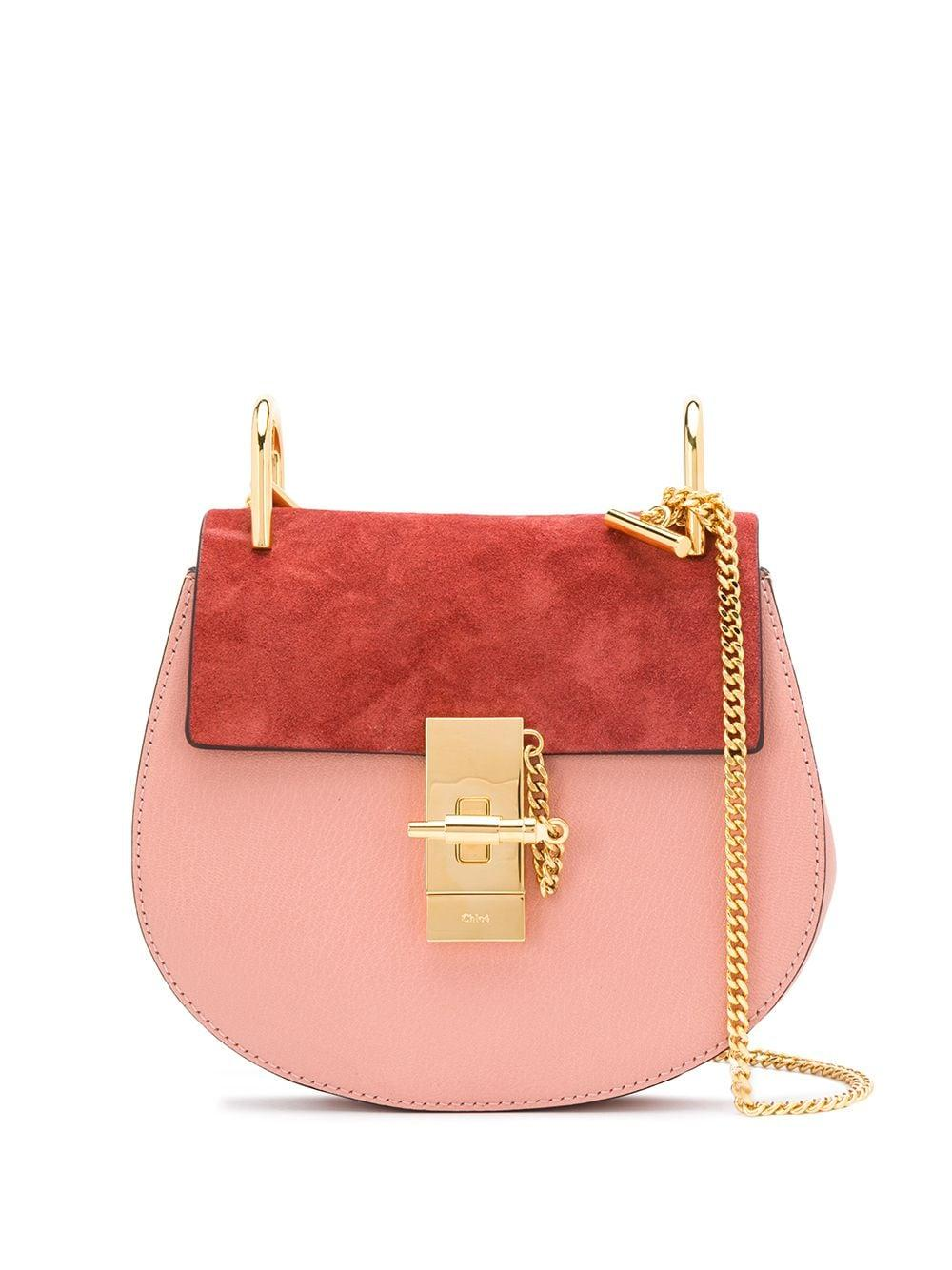 Drew Bi-Color Bag With Chain Strap