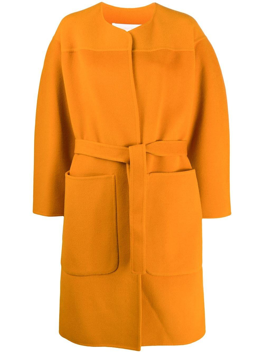 Belted Wool Car Coat Item # CHS20AMA05005