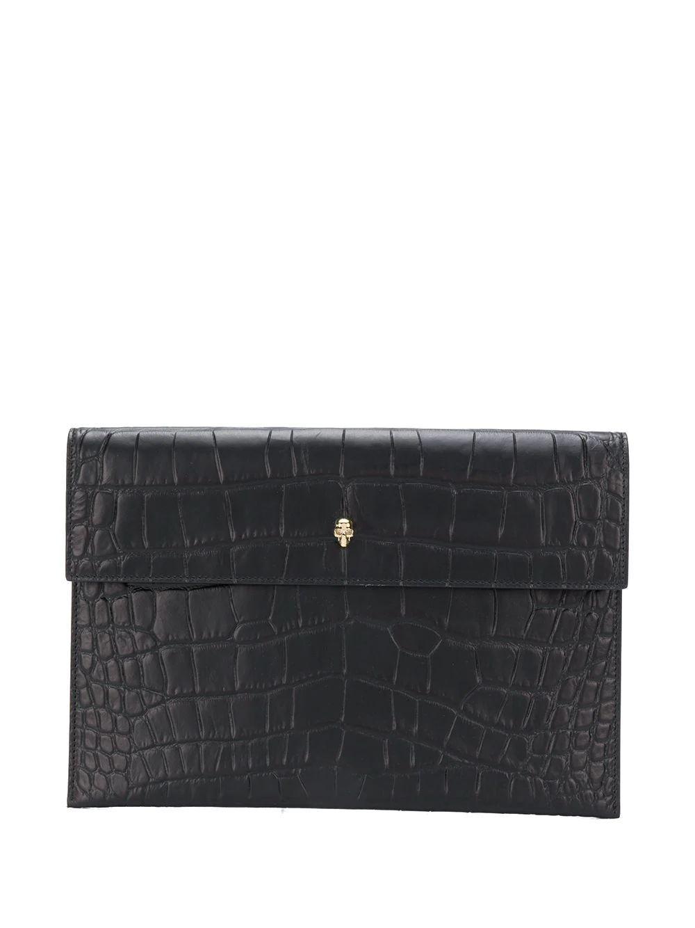 Shiny Crocodile Envelope Pouch Item # 6320331JMEG