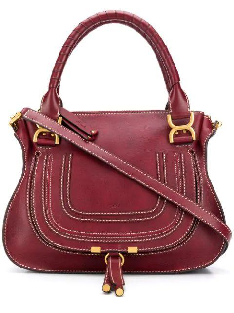 Marcie Saddle Bag With Contrast Stitching