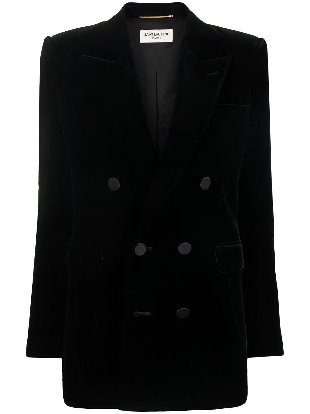 Velvet Double Breasted Jacket Item # 630873Y525R