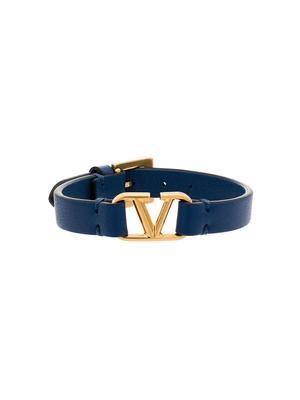 V-Logo Leather Bracelet