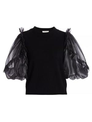 Nuria Organza Sleeve Sweater