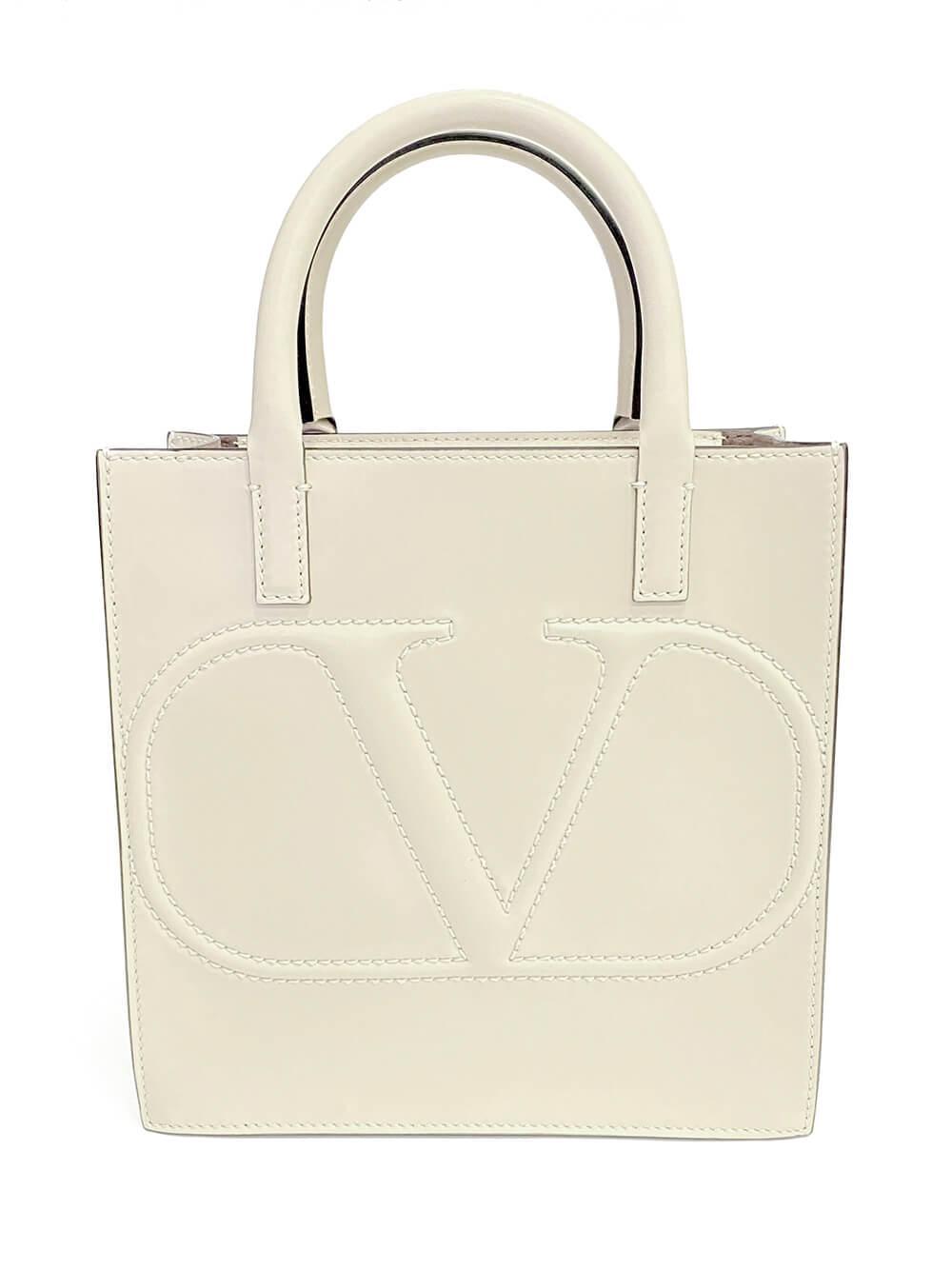 V- Logo Tote Bag Item # UW2B0H23QEL