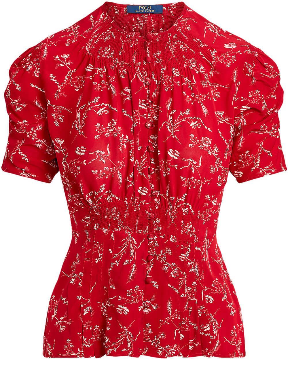 Floral Crepe Blouse Item # 211792729002