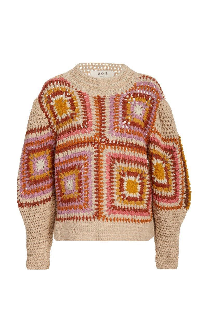 Farrah Crochet Sweater Item # AW20-24