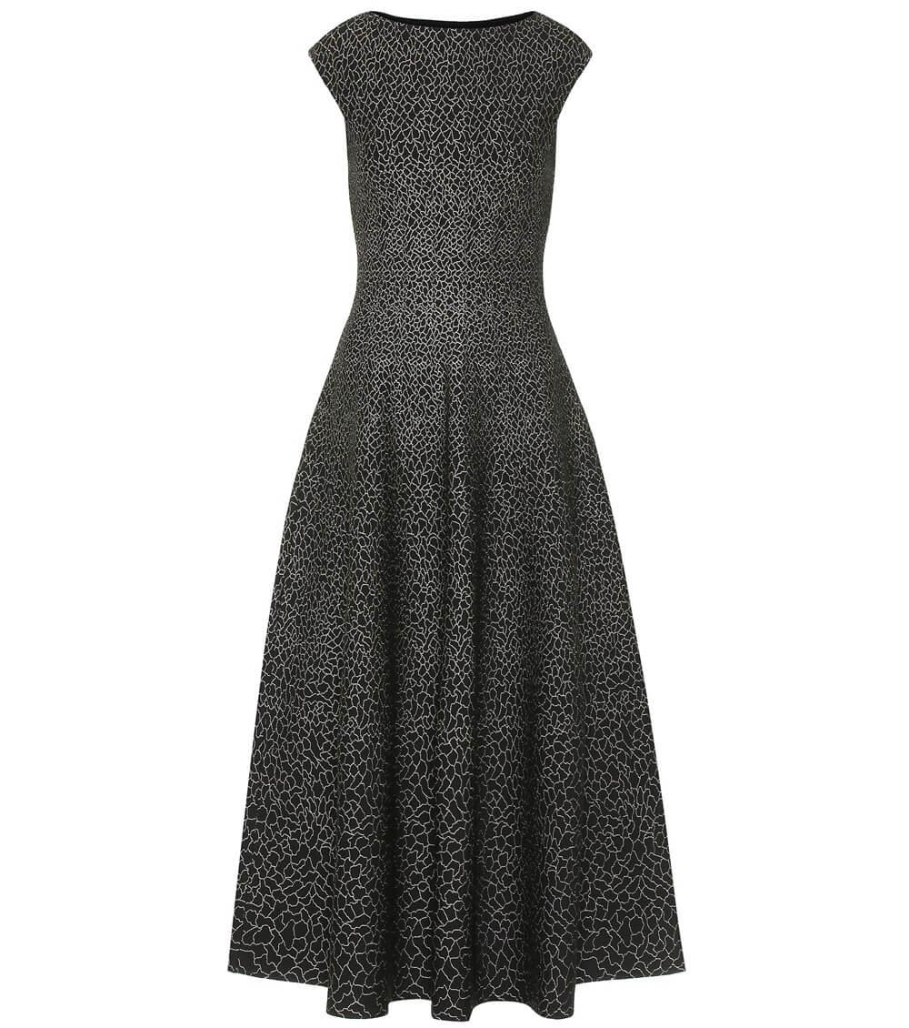 Stretch Jacquard Midi Dress