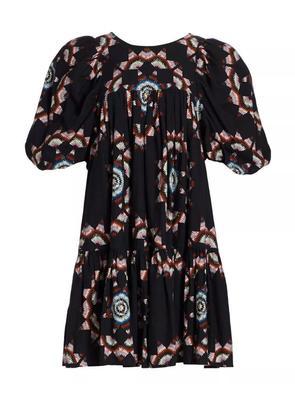 Lindstrom Quilt Puff Sleeve Dress