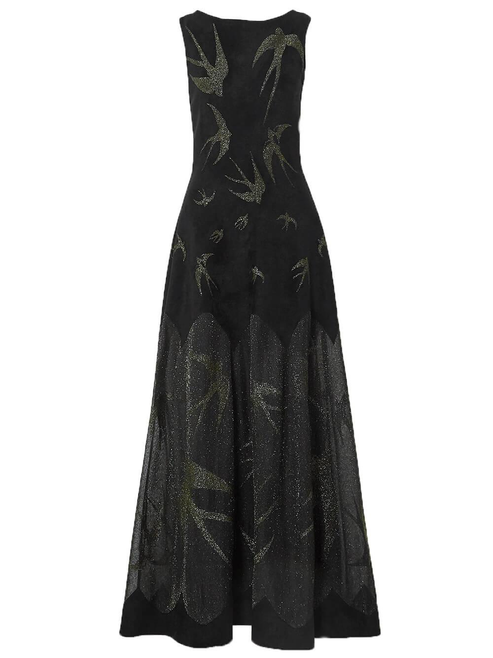 Velvet and Lurex Long Dress