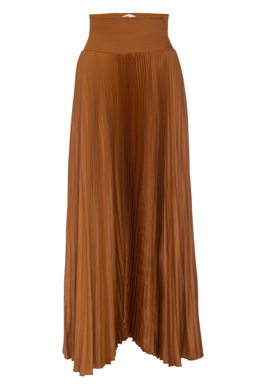 Demi Pleated Midi Skirt Item # 3SKRT00283
