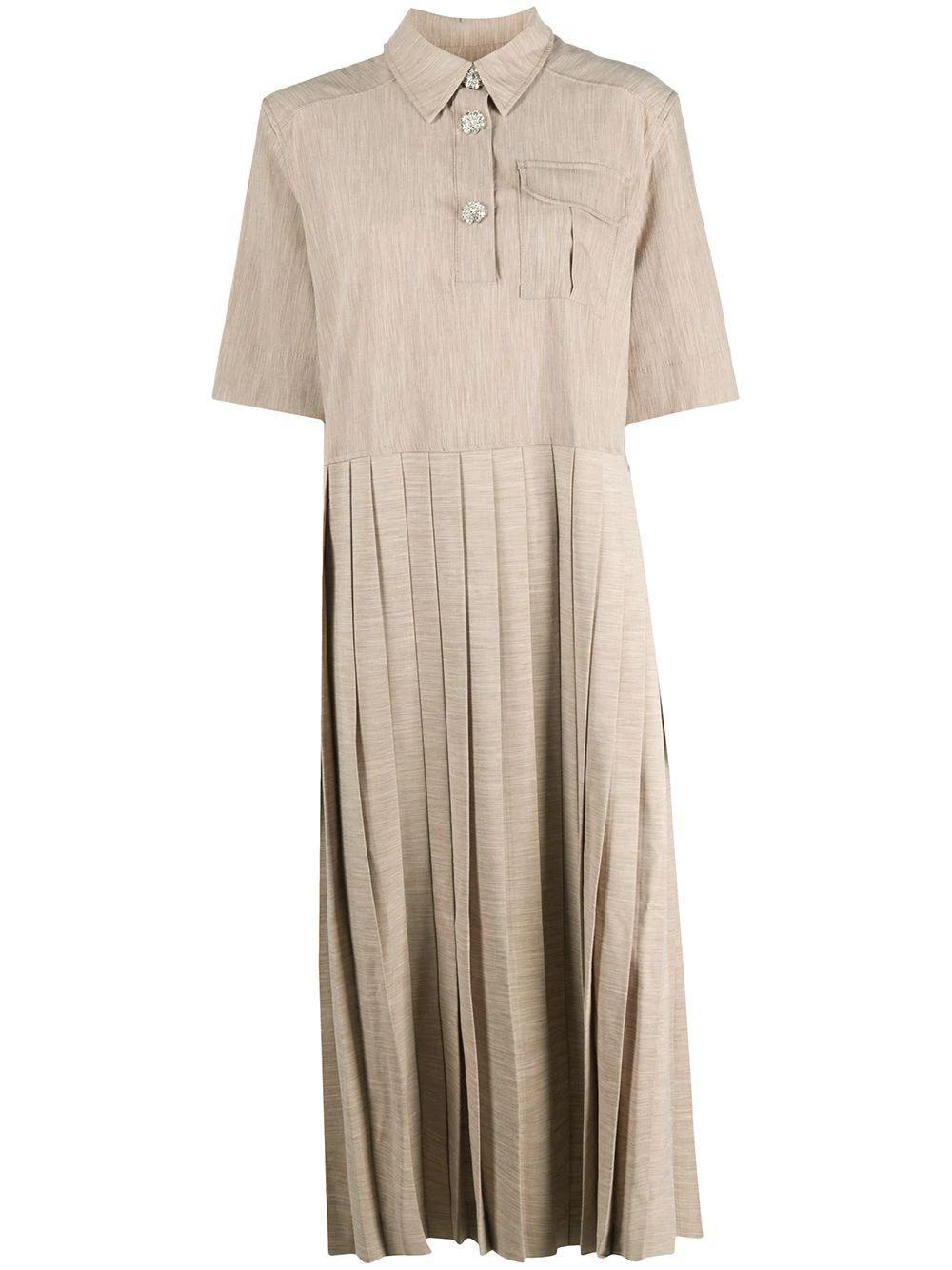 Melange Suiting Shirt Dress Item # F5057