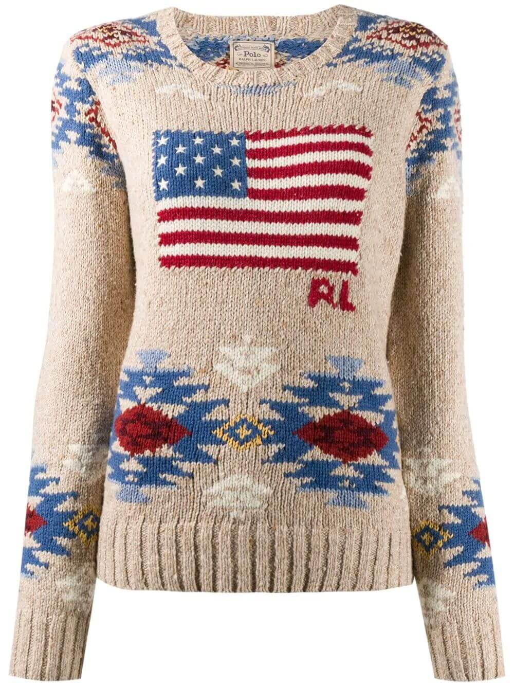 Classic American Flag Sweater