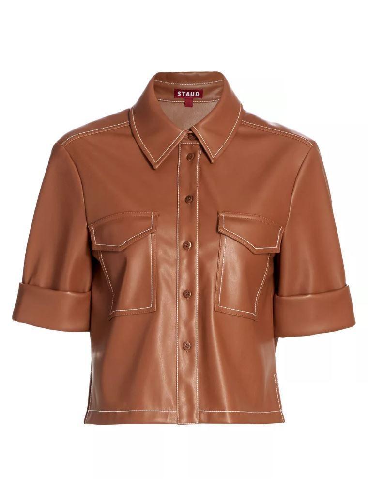 Rue Vegan Leather Shirt