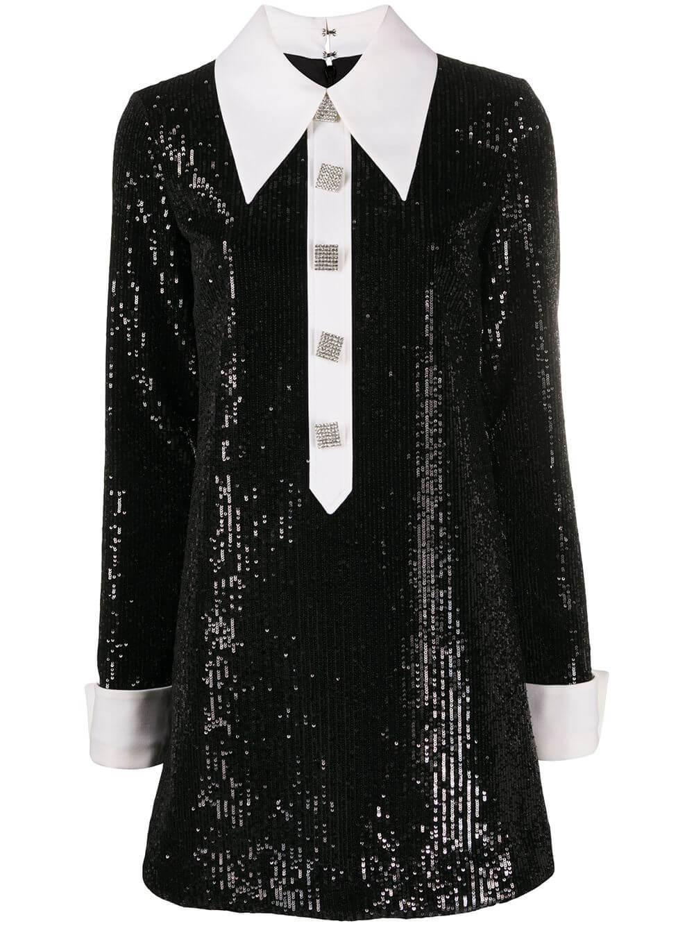 Sequin Embellished Mini Dress