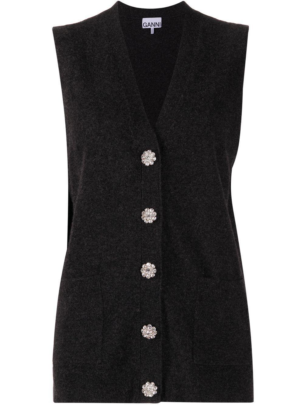Cashmere Knit Sweater Vest Item # K1412
