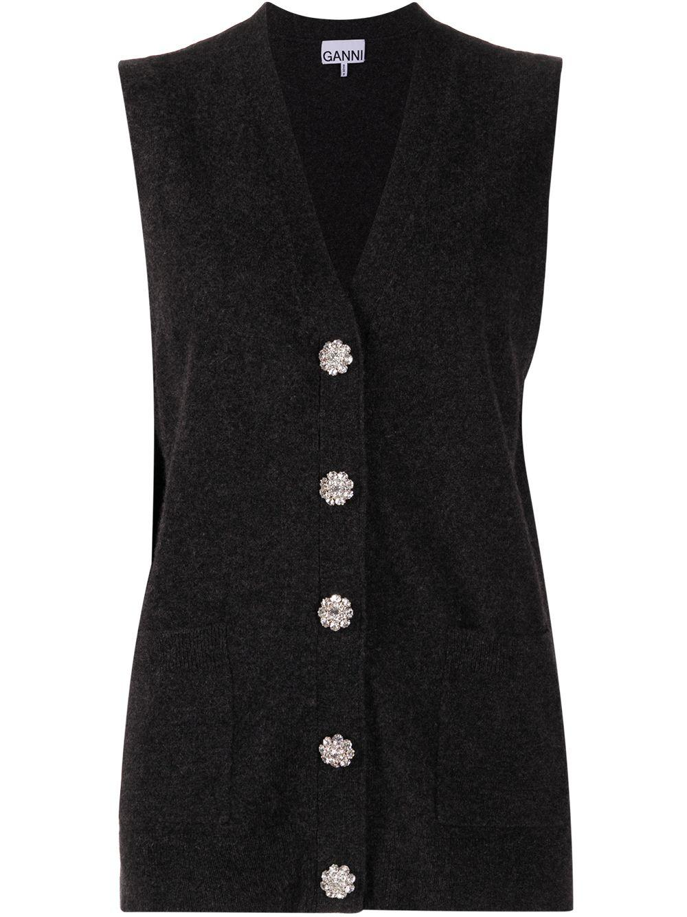 Cashmere Knit Sweater Vest