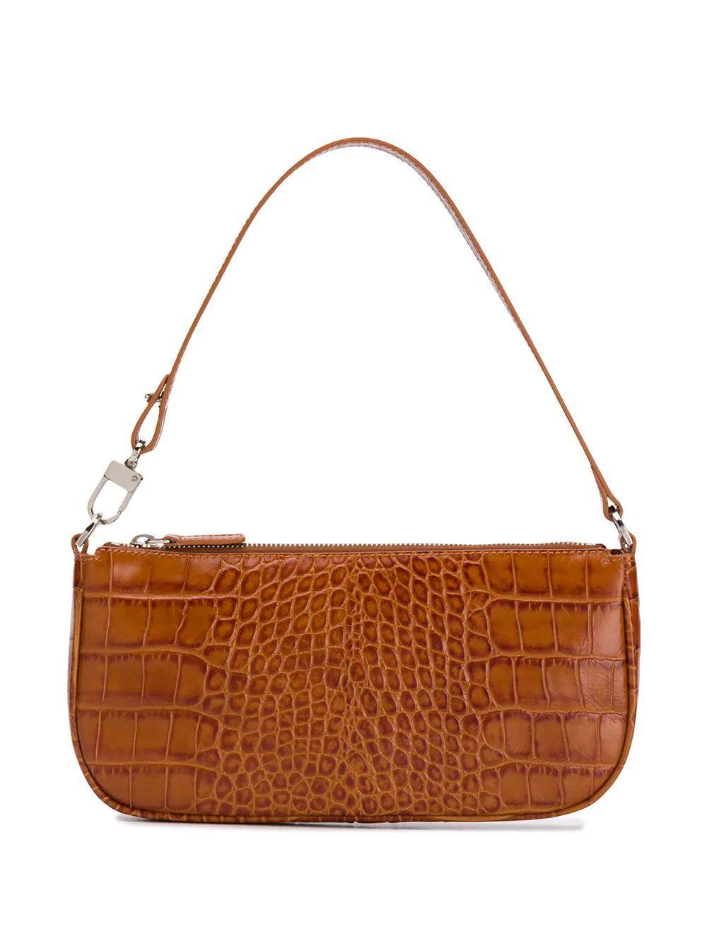 Rachel Croc Embossed Shoulder Bag Item # 20PFRCLSTNDMED