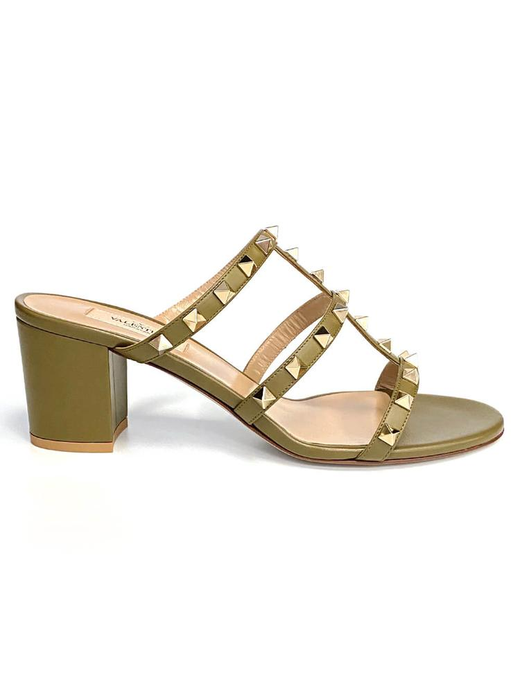 Rockstud 60mm Block Heel Sandal