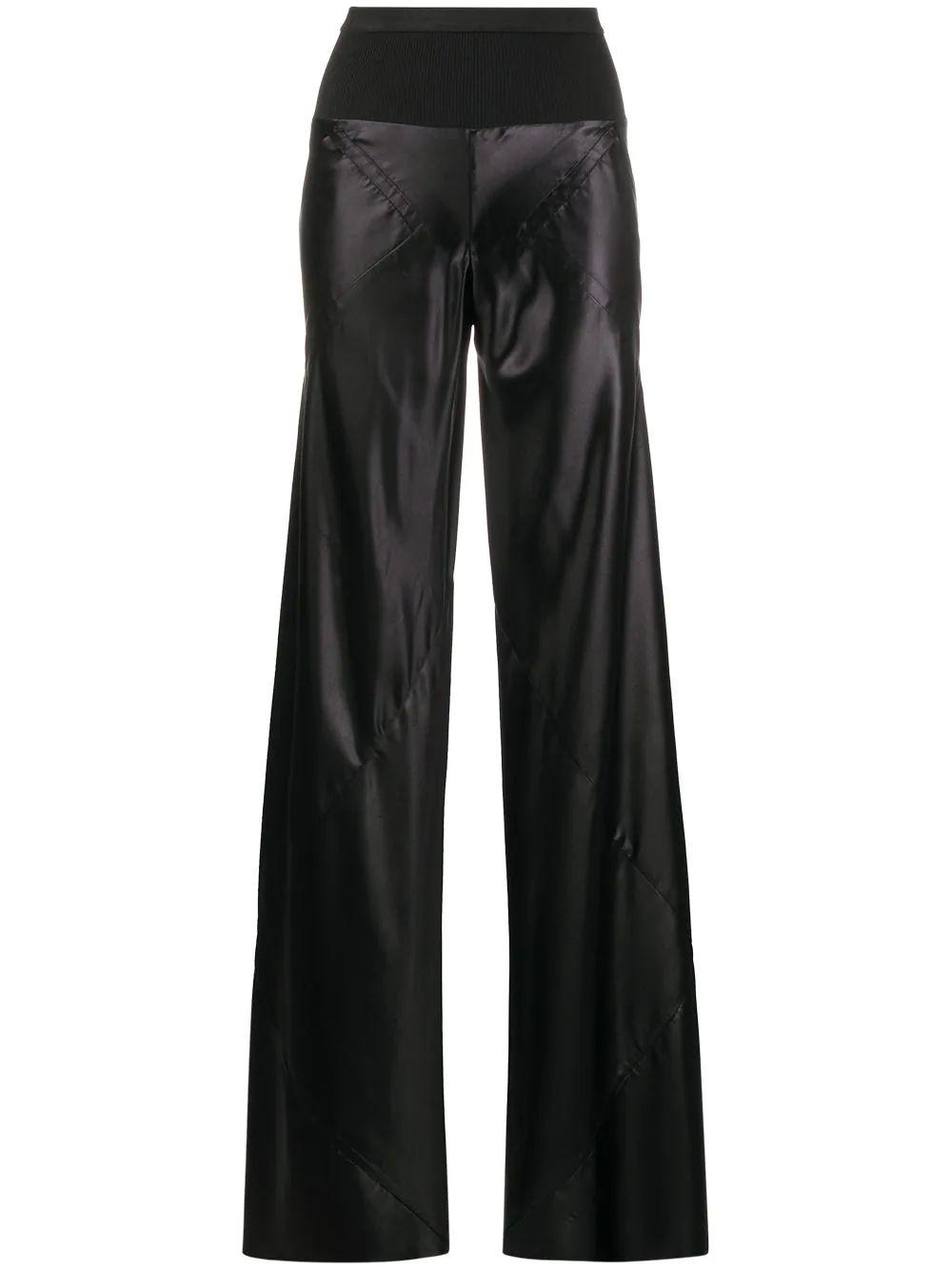 Liquid Leather Bias Cut Printed Pant