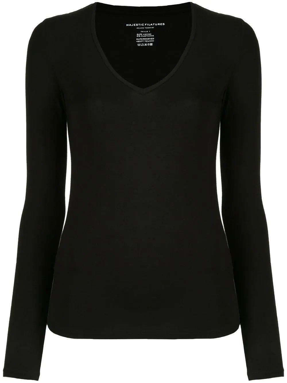 Soft Touch Long Sleeve V-Neck