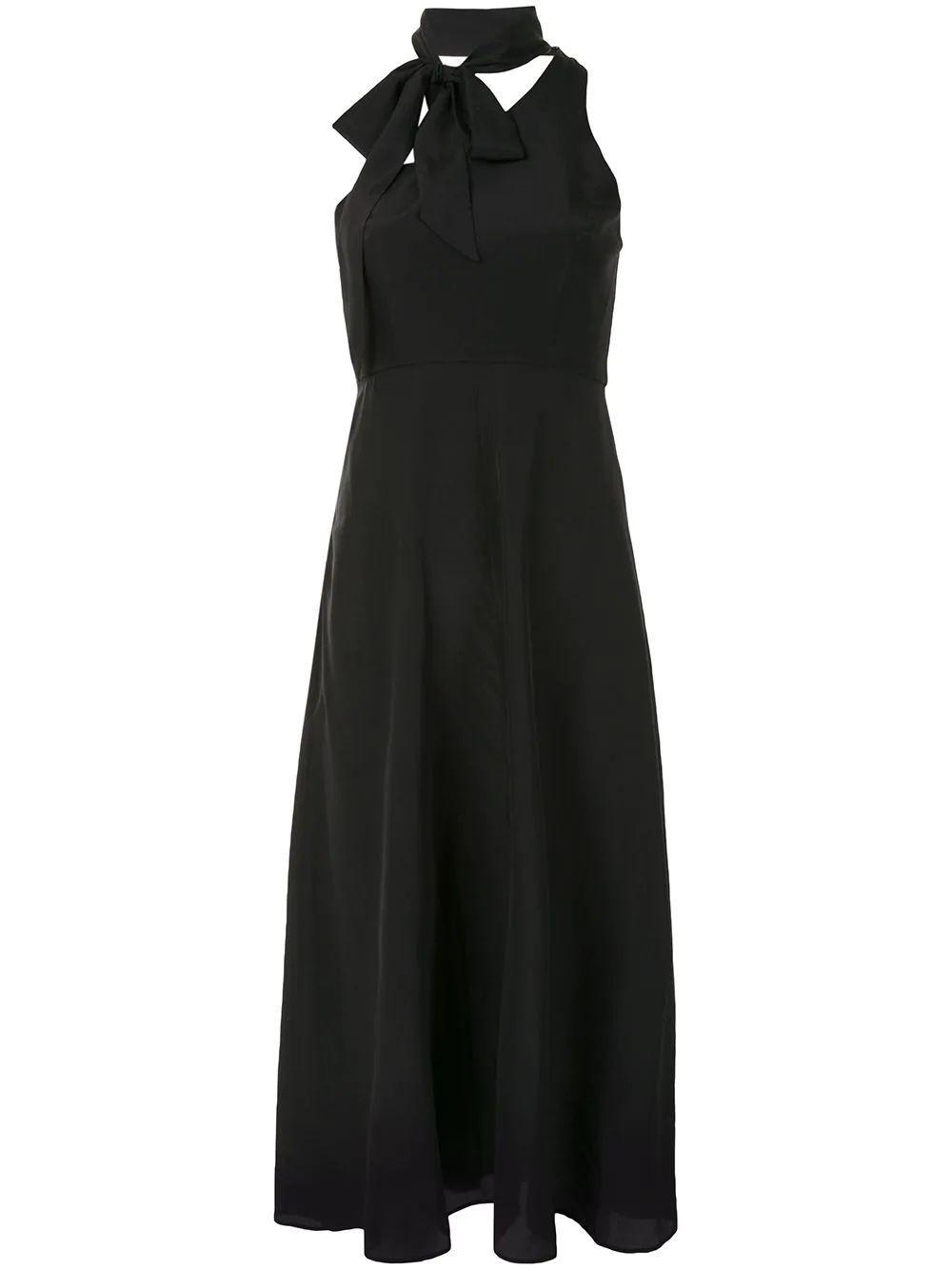 Silk Tie Picnic Dress Item # 9066DRLAD