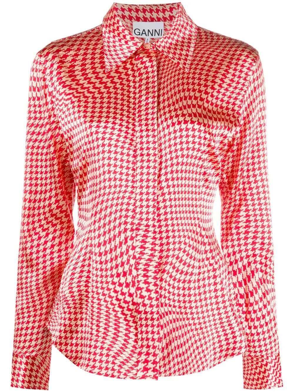 Silk Stretch Button Down Blouse Item # F5323