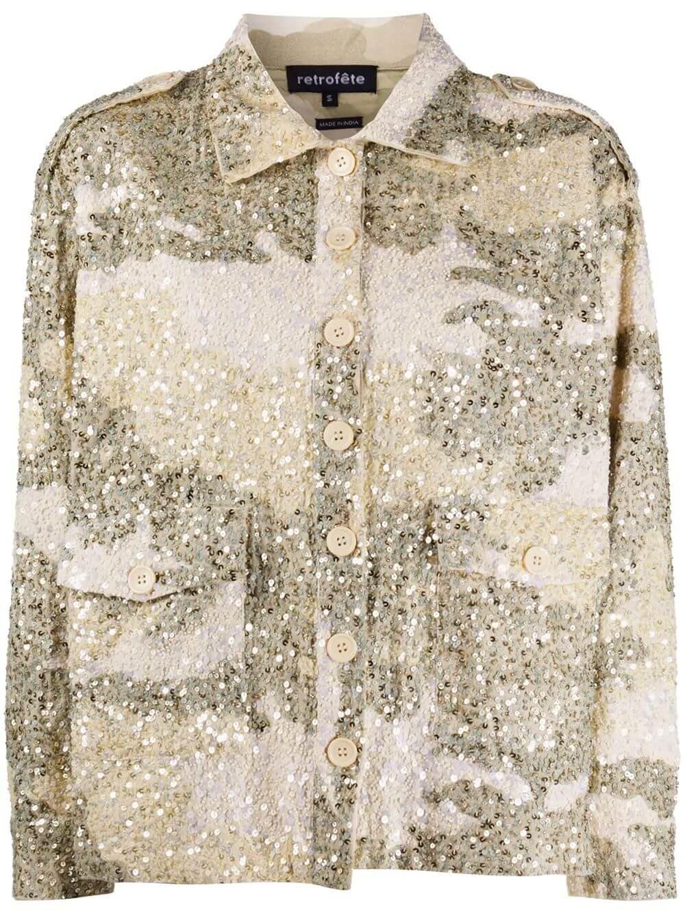 Idan Sequin Camo Jacket
