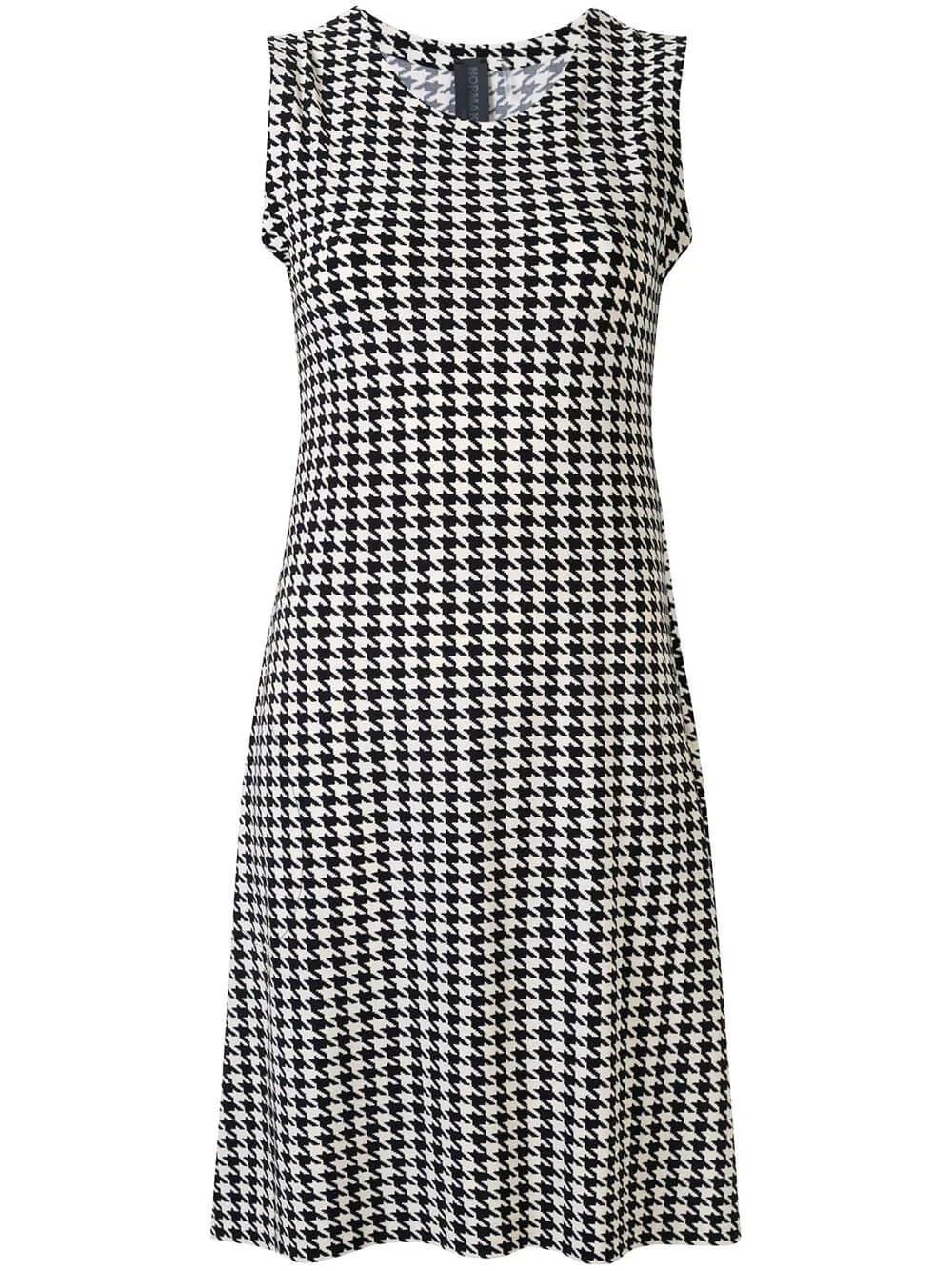 Houndstooth Swing Dress Item # KK3203PL013472