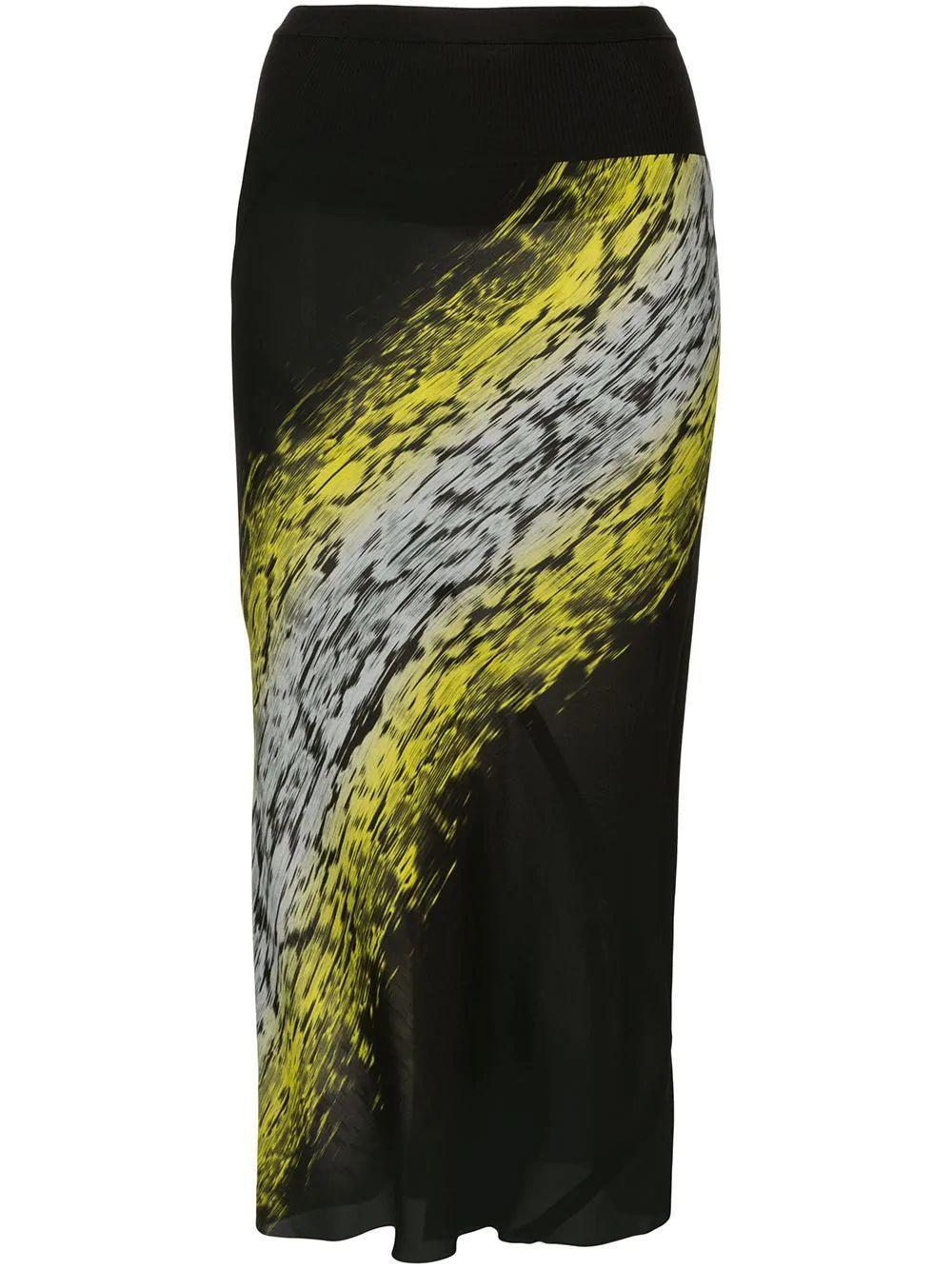 Printed Knee Length Skirt Item # RP20F2332