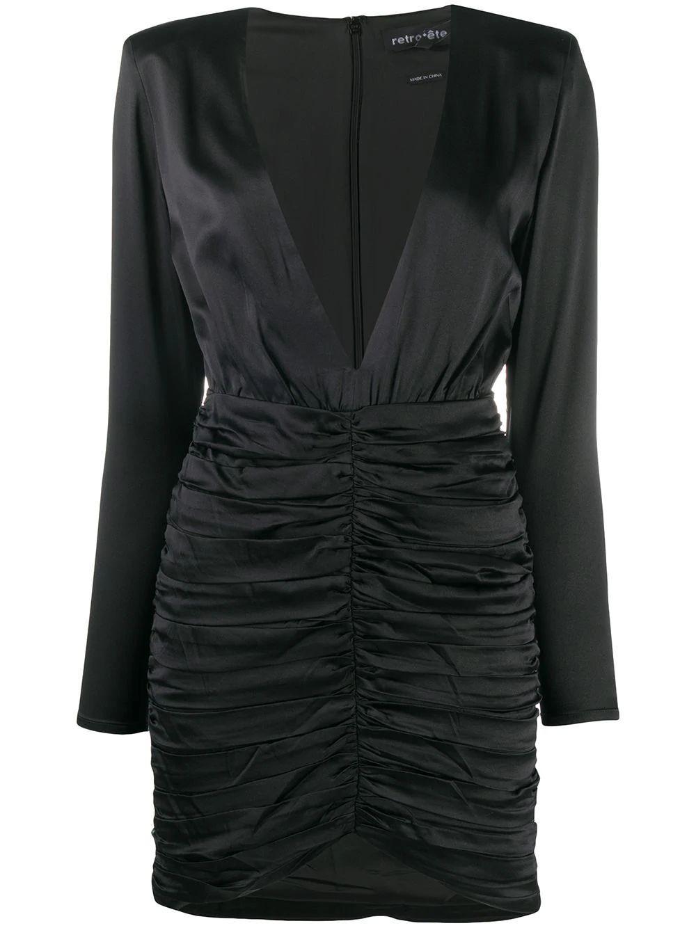 Brea Ruched Mini Dress Item # PF20-2858