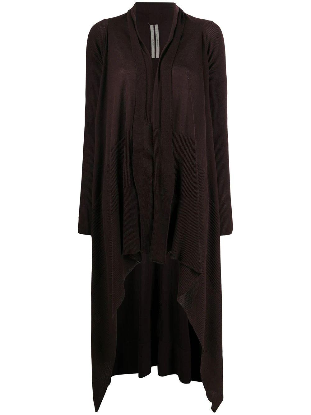Asymmetrical Hem Wrap Cardigan