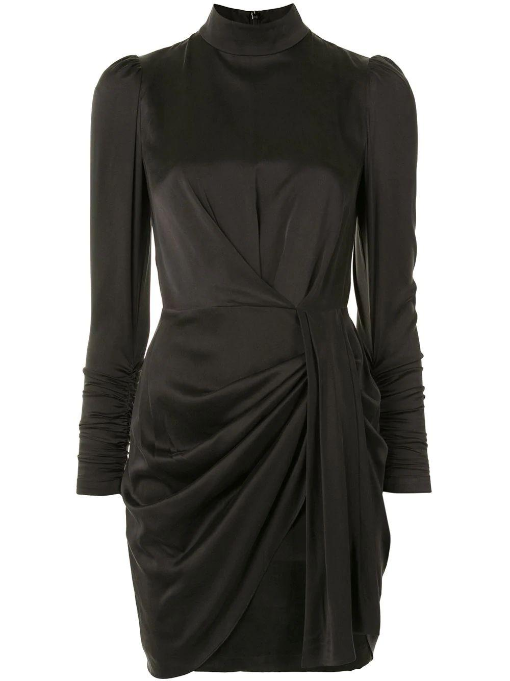 Silk Draped Dress