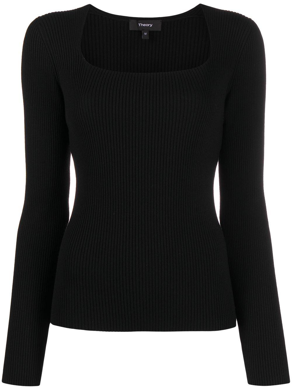 Evian Portrait Neck Knit Top