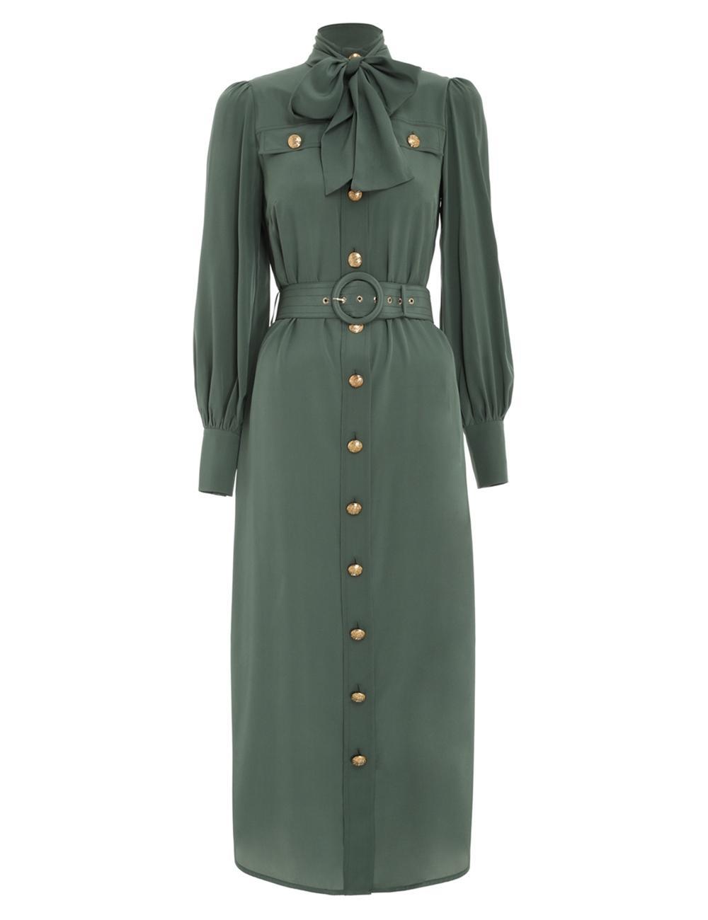 Silk Tie Midi Dress Item # 9046DRLAD