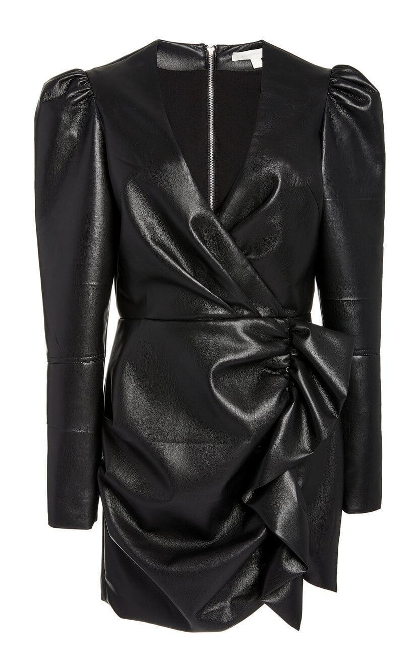 Catalina Vegan Leather Mini Dress Item # 520-1014-L