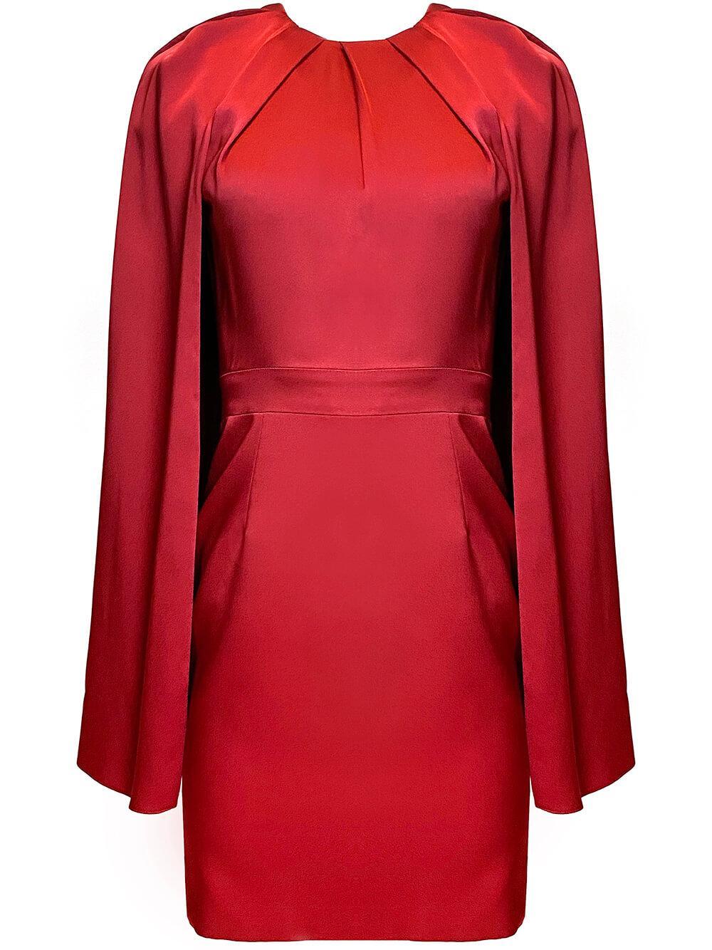 Mini Dress With Cape Item # 629351QBAAE