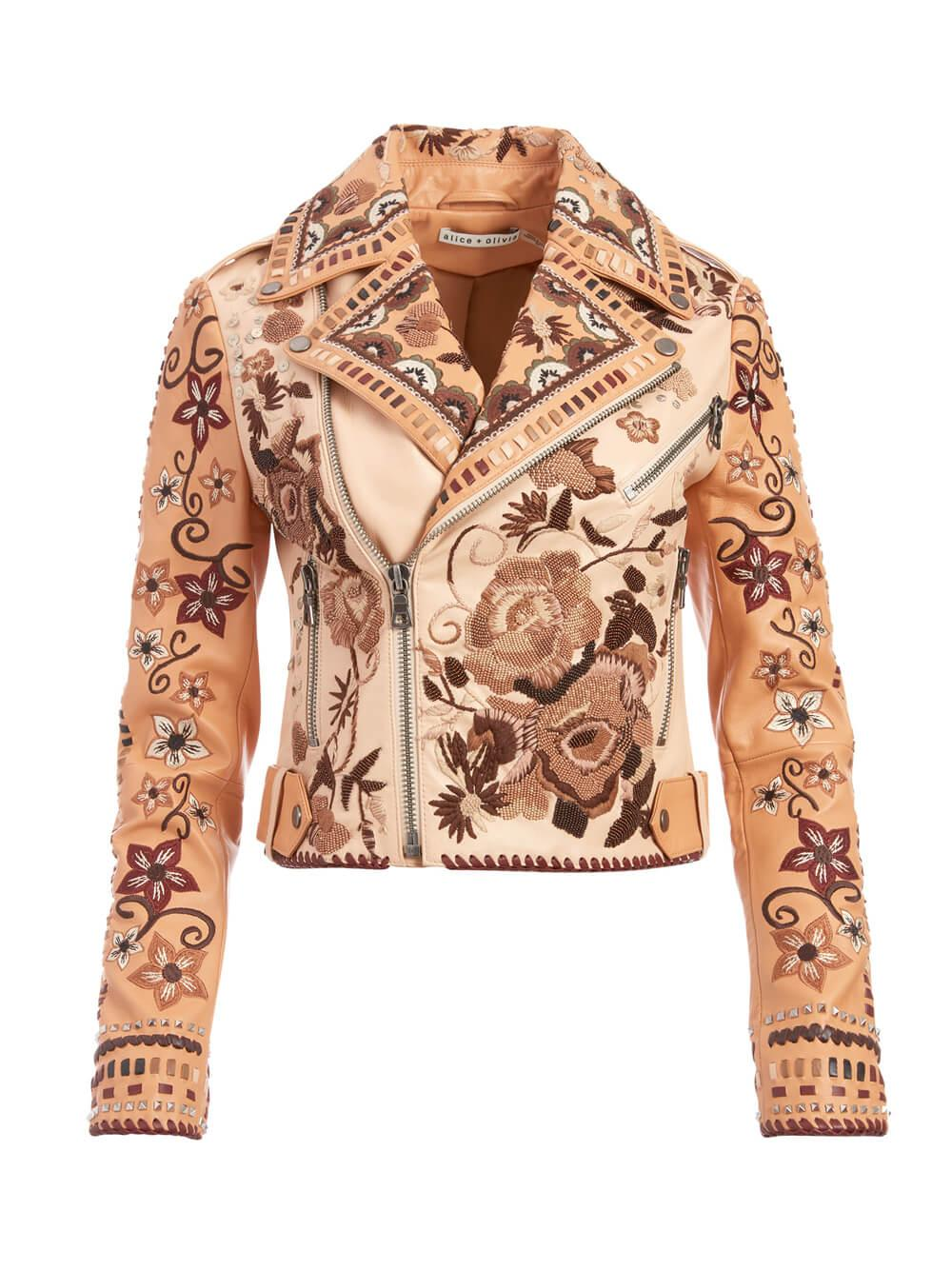 Cody Embroidered Leather Jacket Item # CC007H02207