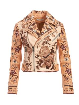 Cody Embroidered Leather Jacket