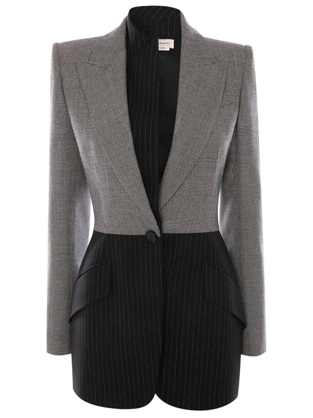 Plaid and Pinstripe Blazer