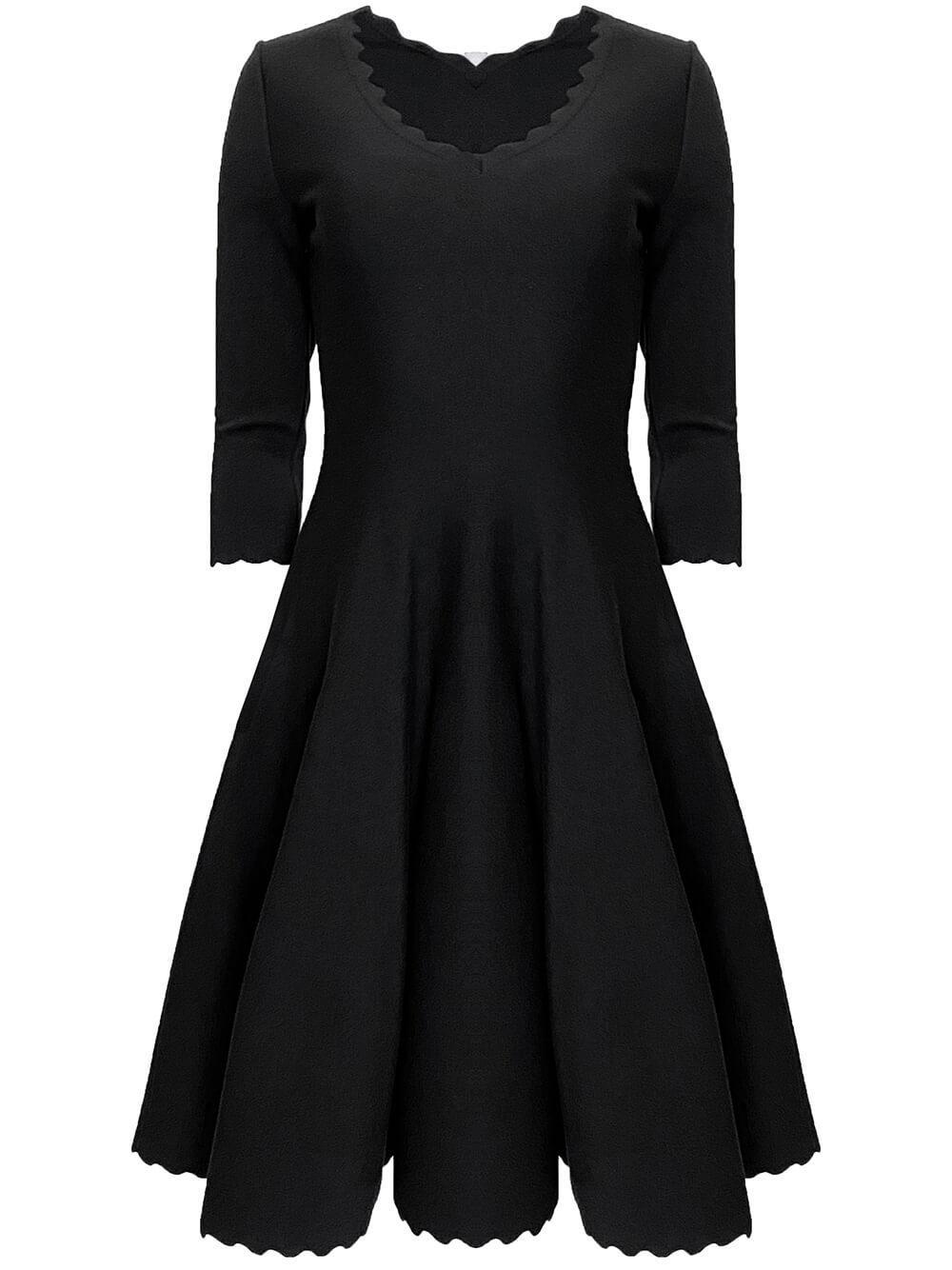 V- Neck Knit Dress Item # AA9R2017LM559