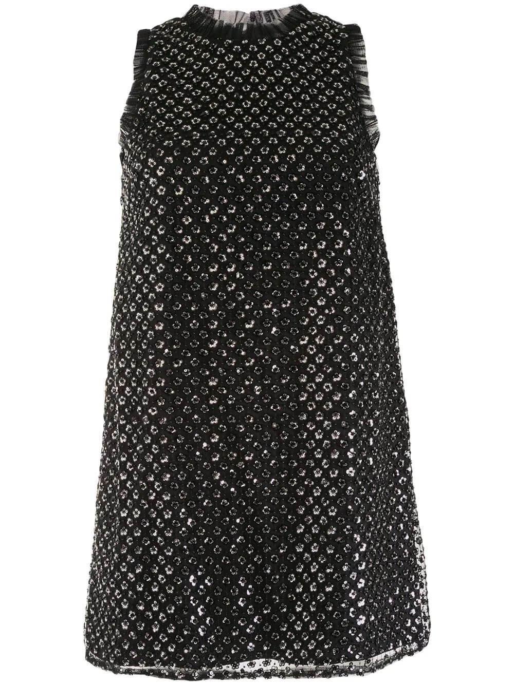 Sequin Trapeze Mini Dress