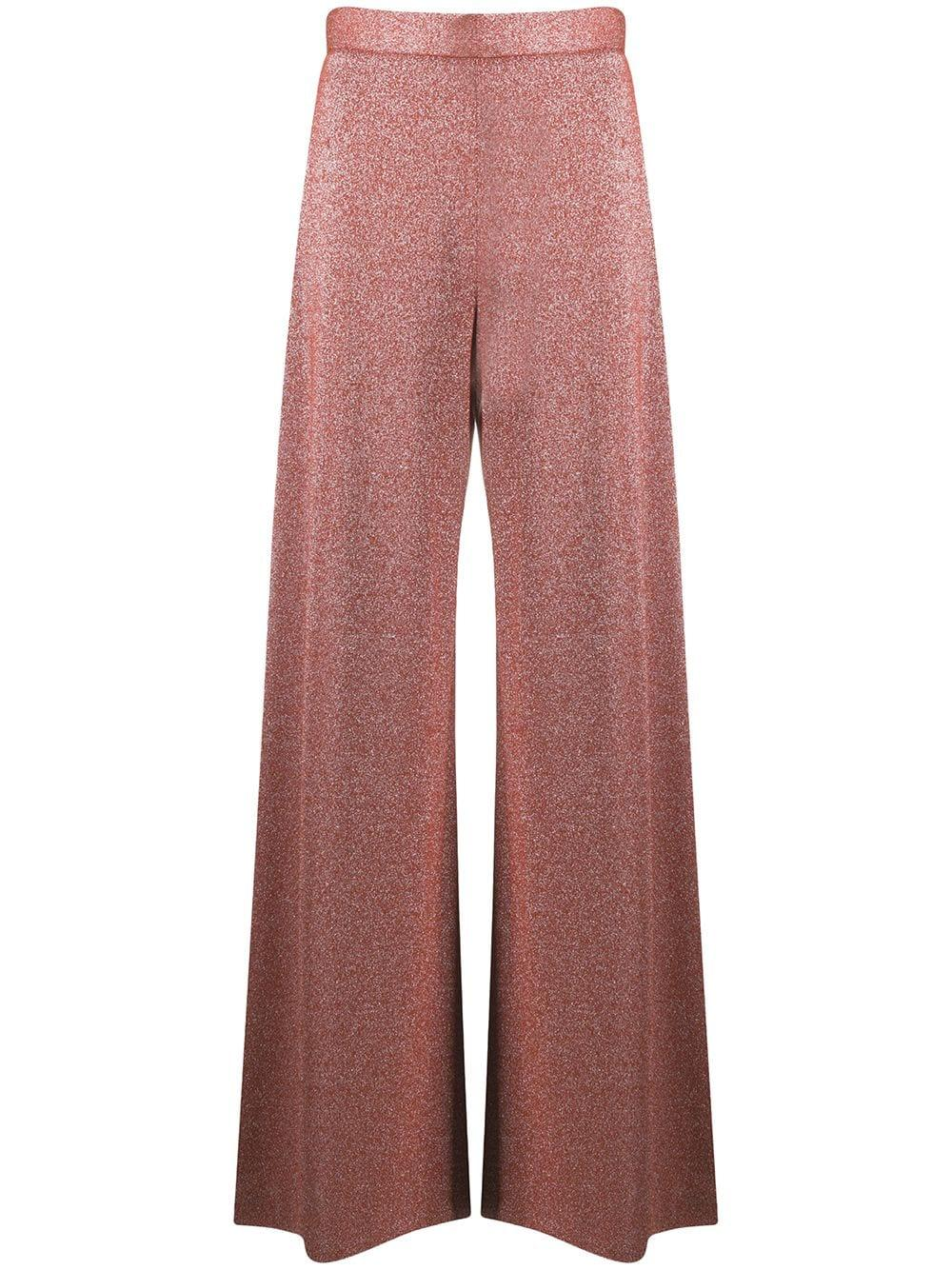 Wide Leg Knit Trousers