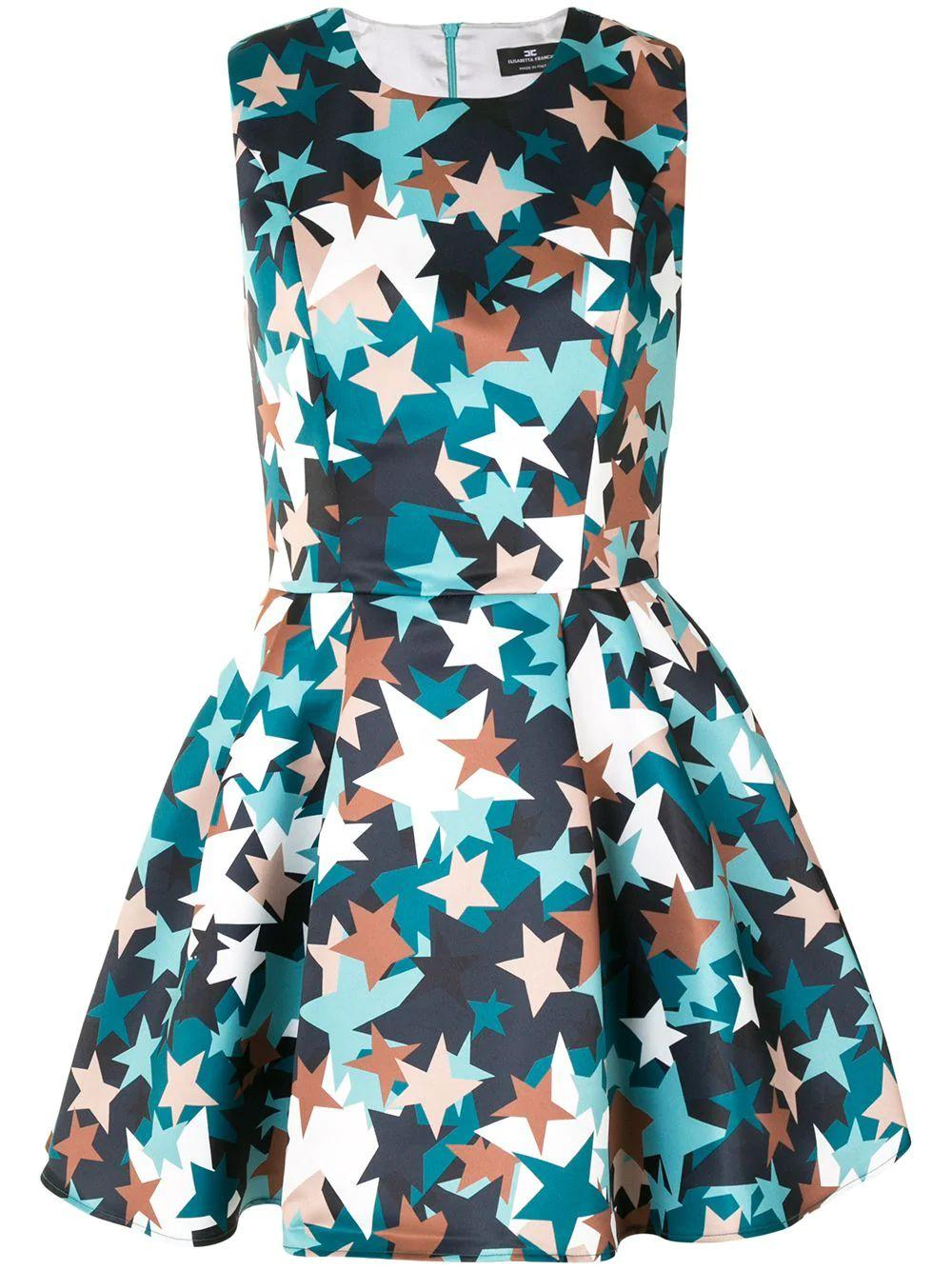 Star-Print Mini Dress