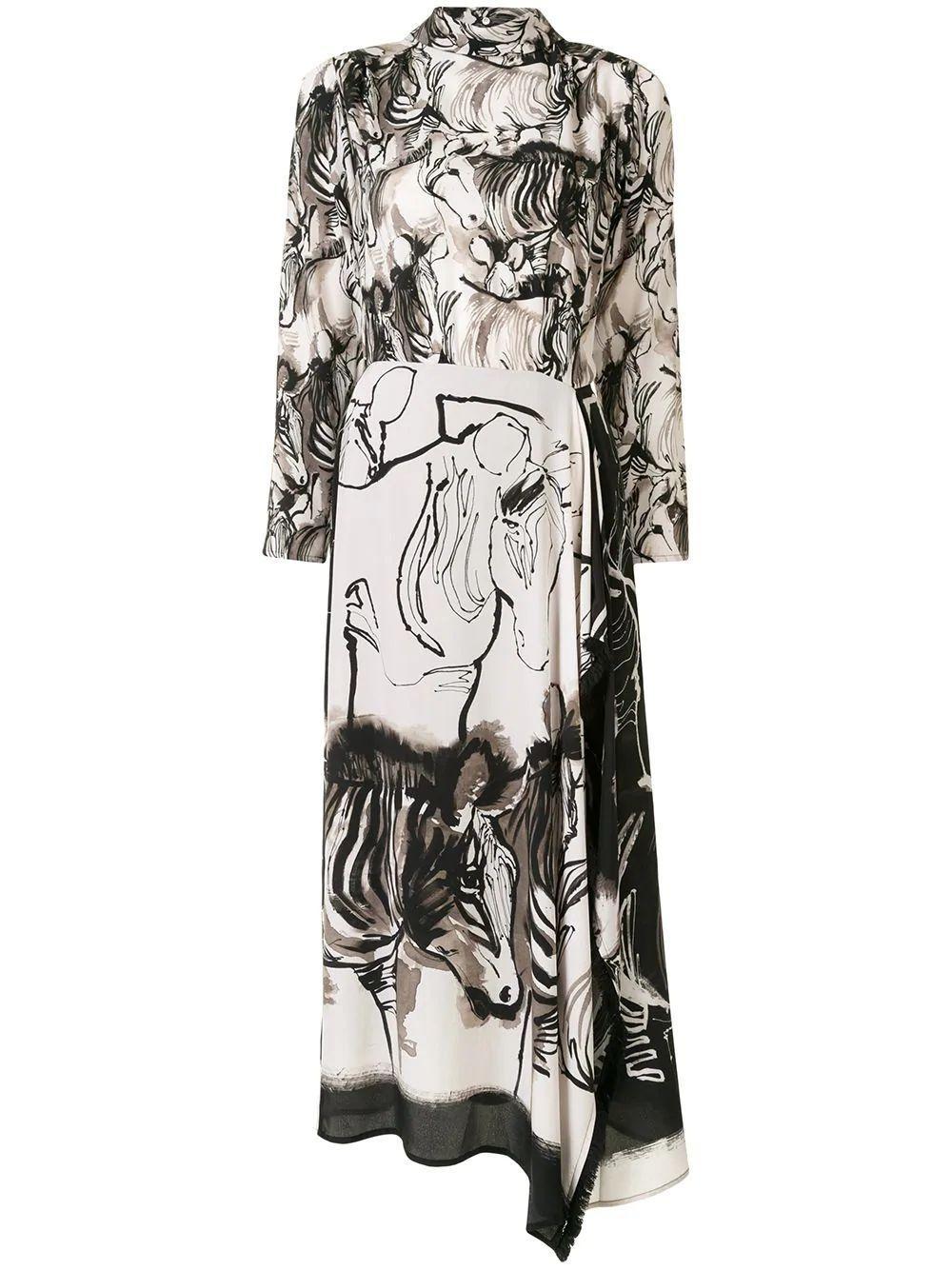 Zebra Long Dress Item # 9LEORA87