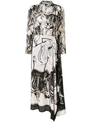 Zebra Long Dress