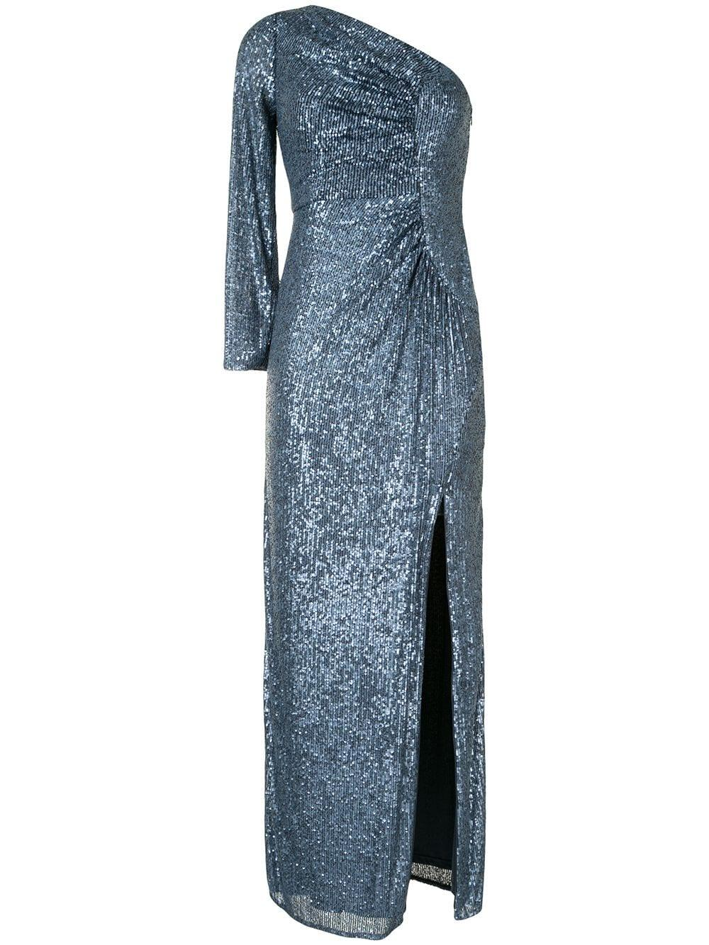 One Shoulder Ruched Gown